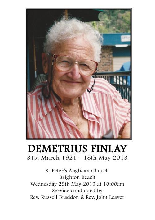 Demetrius Finlay