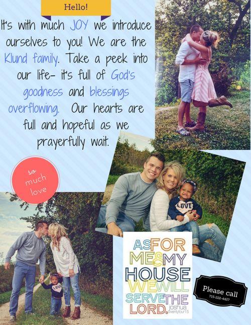 Klund Family Adoption Journey