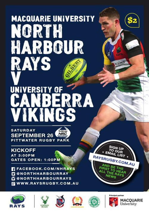 RAYS V UC VIKINGS MATCH PROGRAM