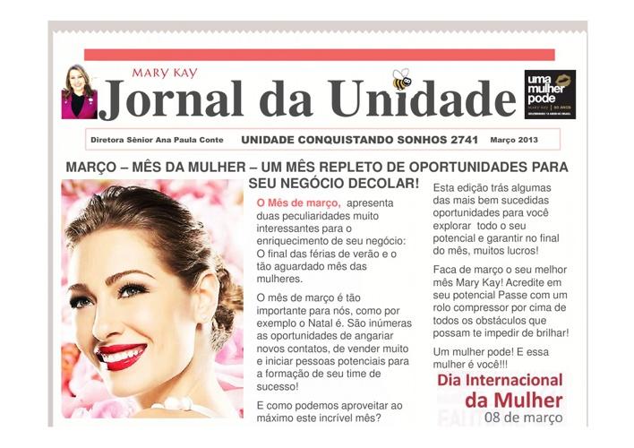 Jornal da Unidade Conquistando Sonhos Março 2013