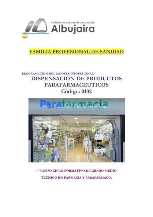 Dispensación de Productos Parafarmaceuticos