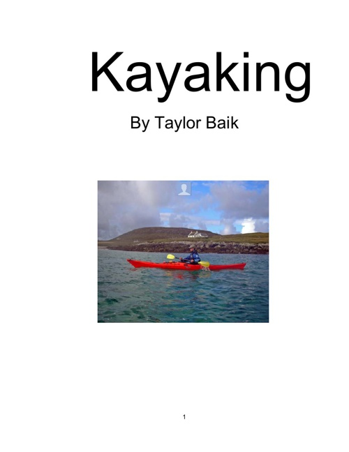 Kayaking By Taylor