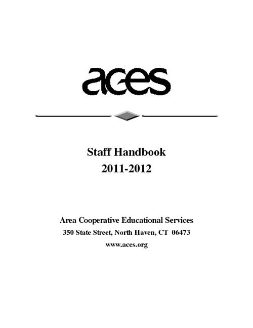 ACES Staff Handbook 2011-2012