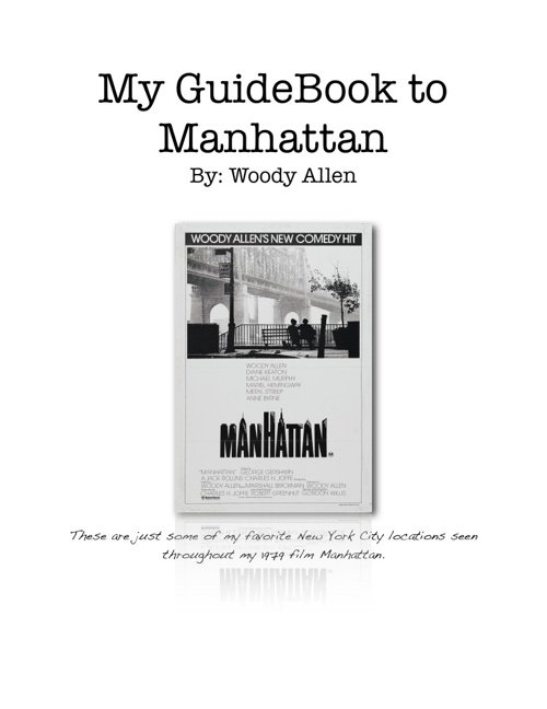 My GuideBook to Manhattan by Woody Allen