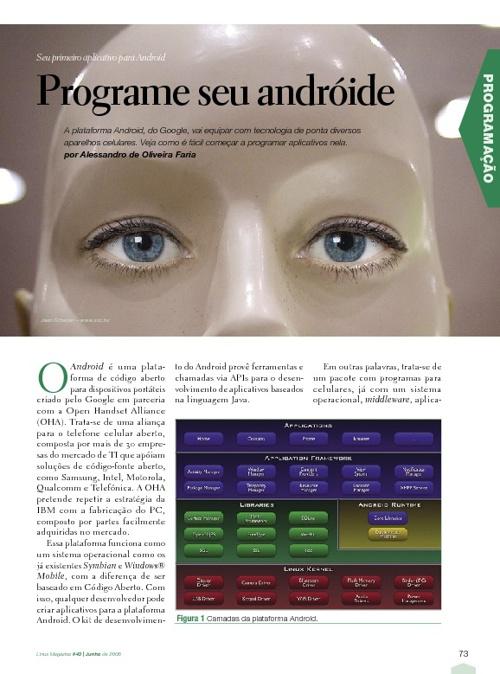 Programe o seu android