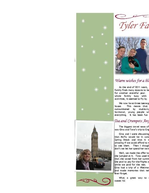 Tyler Newsletter 2011