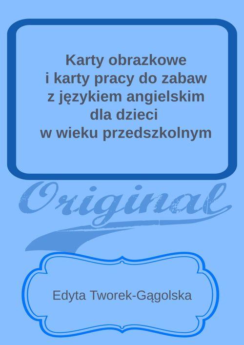 karty do zabaw z językiem angielskim