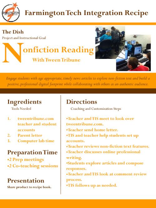 Farmington Tech Integration Recipes