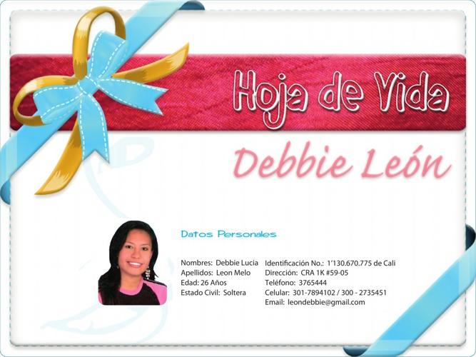 Hoja de Vida_Debbie Leon