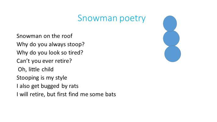 Snowman Poetry