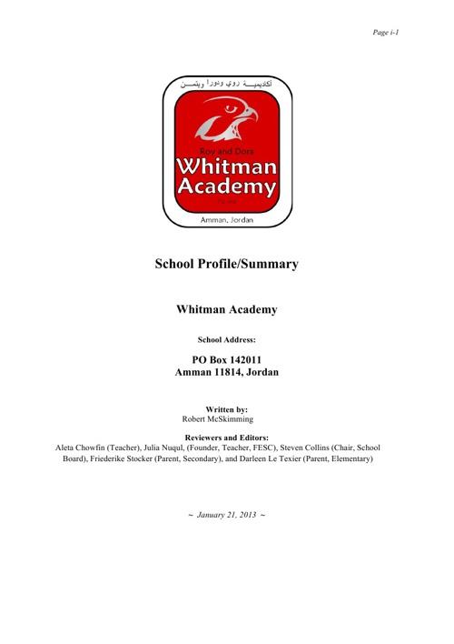 Whitman Academy Profile