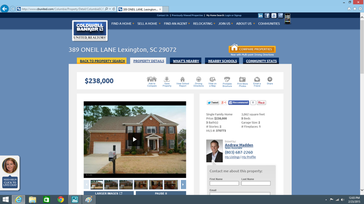 389 Oneil Lane Lexington, SC 29072