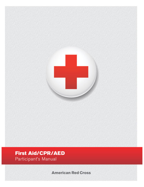 American Red Cross First Aid AED Manual F