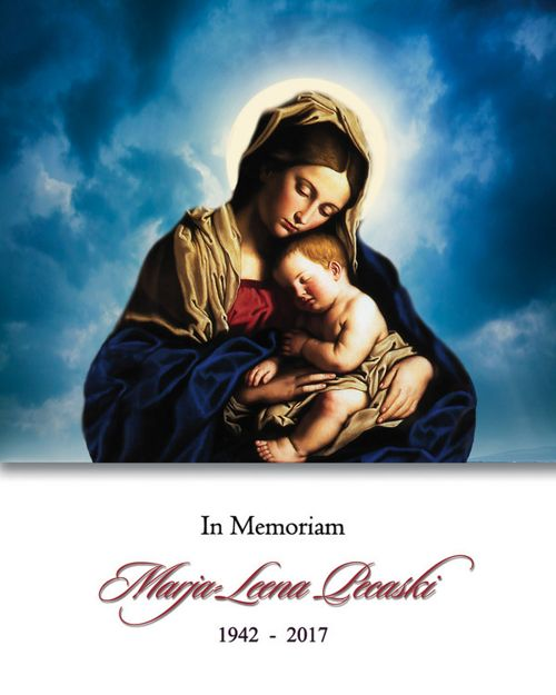 Memorial Card for Marja Leena Pecaski