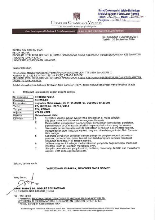 Surat Kelulusan JPPel