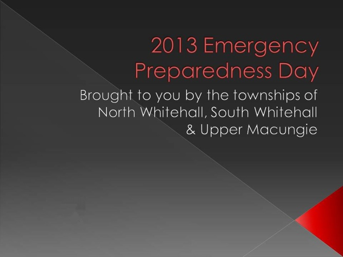 2013 Emergency Preparedness Day