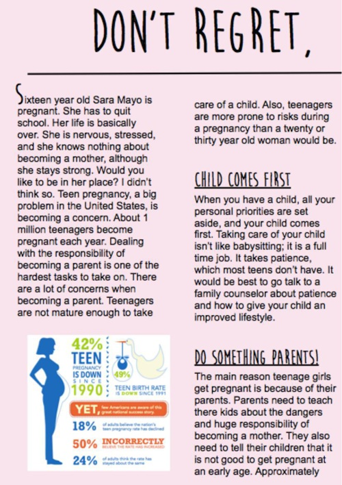 Feature Article - Teen Pregnancy