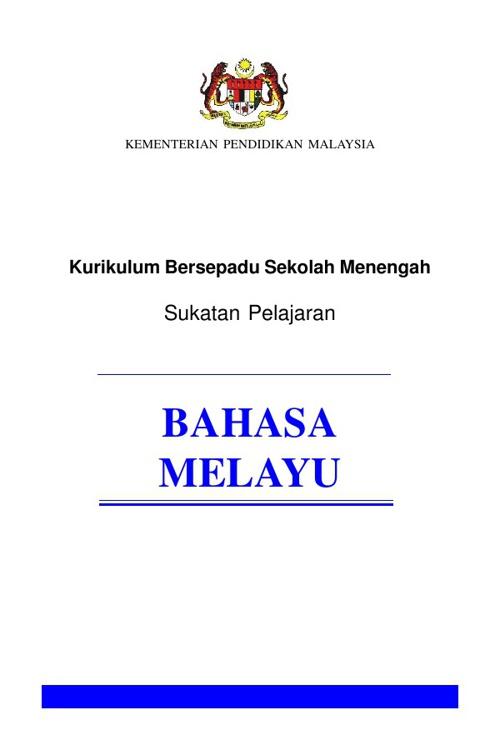 sukatan pelajaran BM