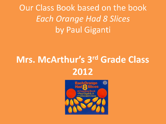 Mrs. McArthur's Third Grade Book