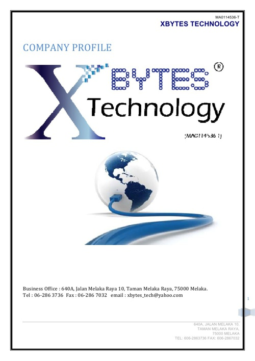 Company Profile : XBYTES TECHNOLOGY 2013