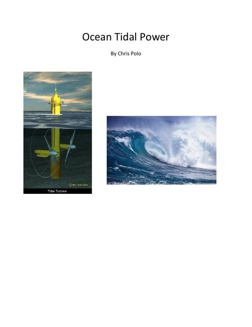 Ocean Tidal Power