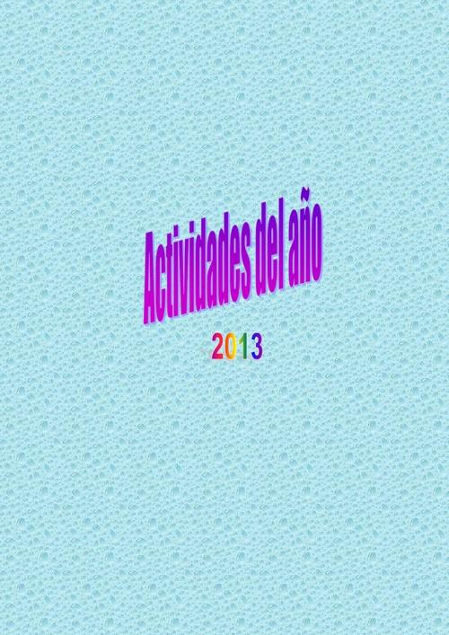 Trabajos del Año 2013