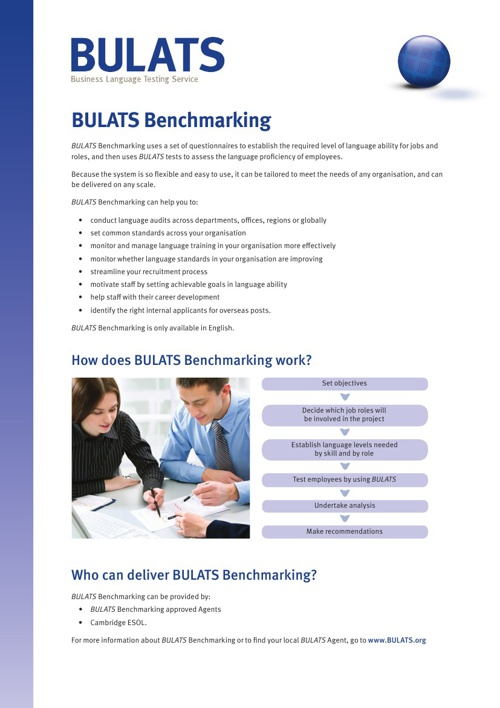 BULATS Benchmarking