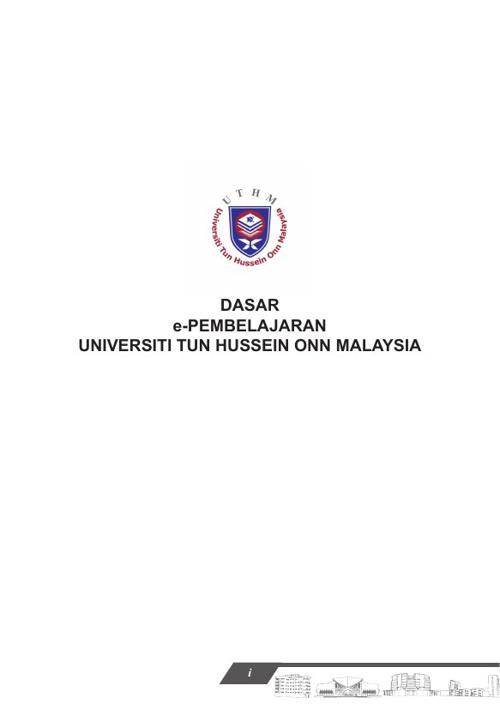 Dasar e-Pembelajaran UTHM