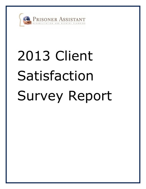 2013 Client Satisfaction Survey Report