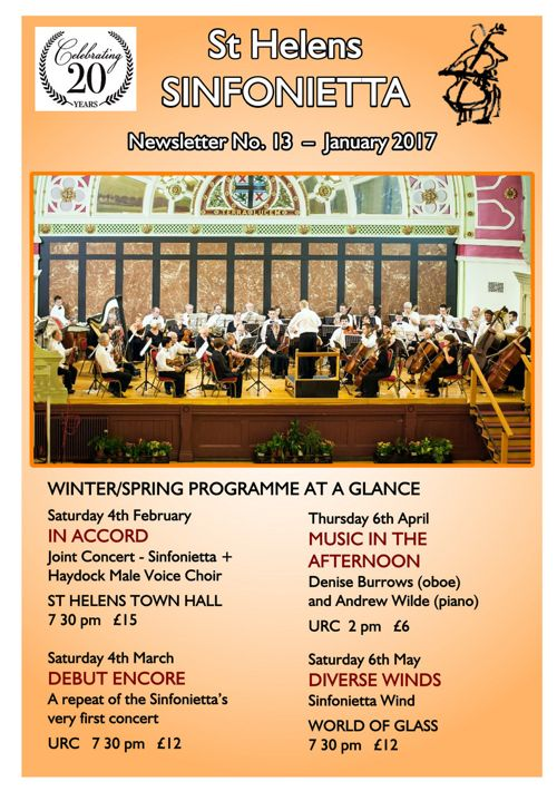 Sinfonietta Newsletter 13