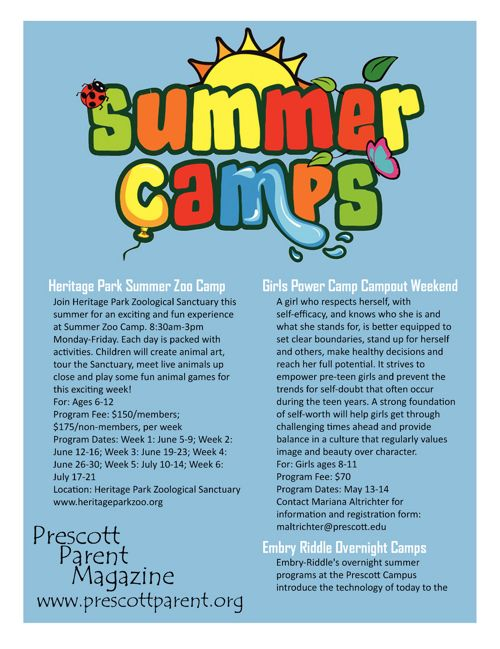 Prescott Parent Magazine Summer Camp List 2017