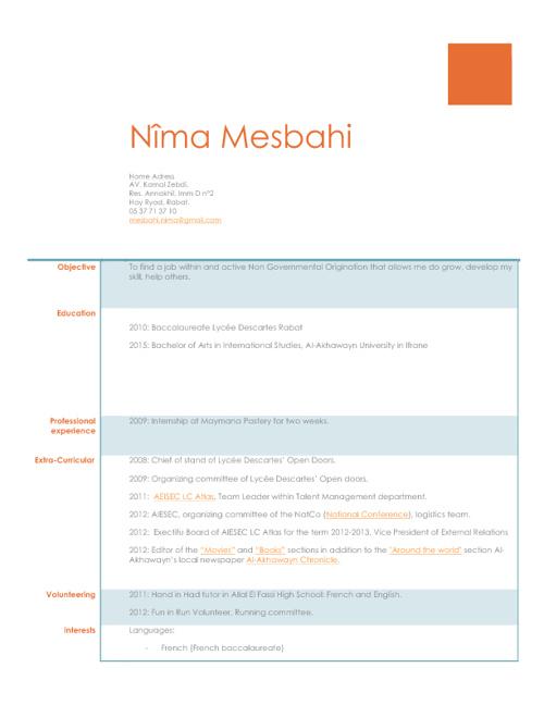 Mesbahi Nîma_Career Portfolio