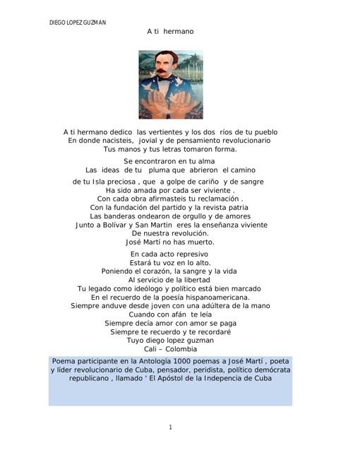 poemas  para manuel alejandro