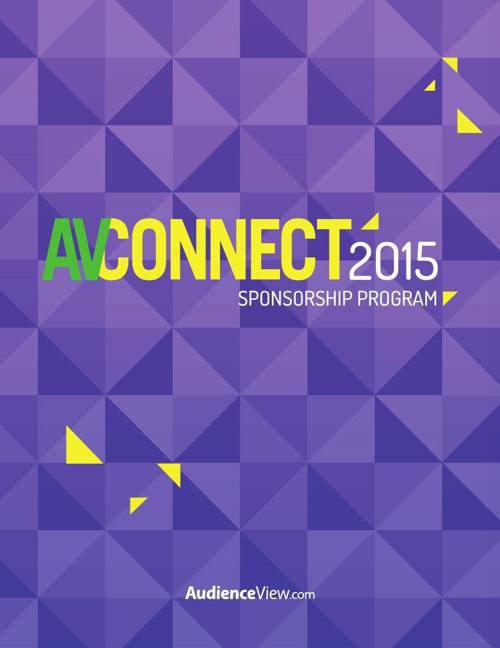 AVConnect 2015 Sponsorship Program