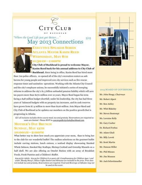 CCB May 2013 Newsletter