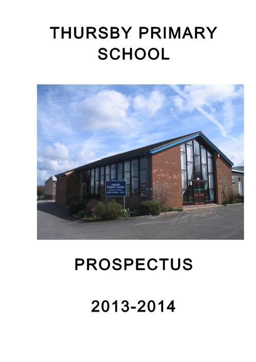 Thursby School Prospectus