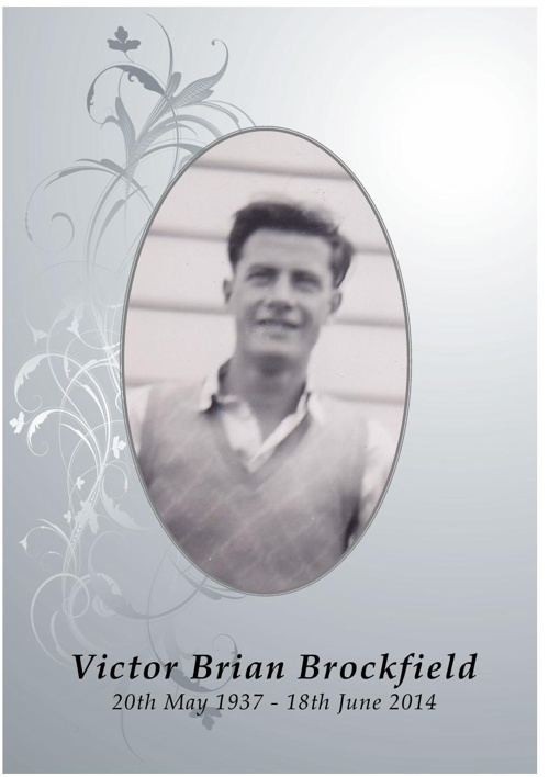 4 Order of Service for Victor Brockfield