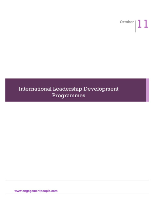 International Leadership Development Programmes