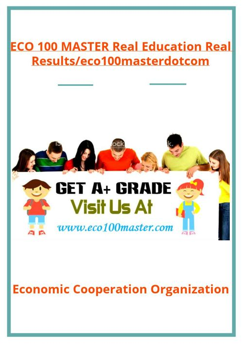 ECO 100 MASTER Real Education Real Results/eco100masterdotco