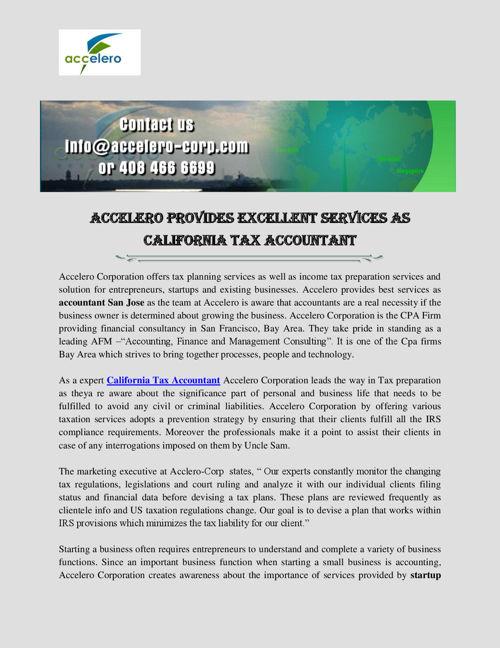 California Tax Accountant