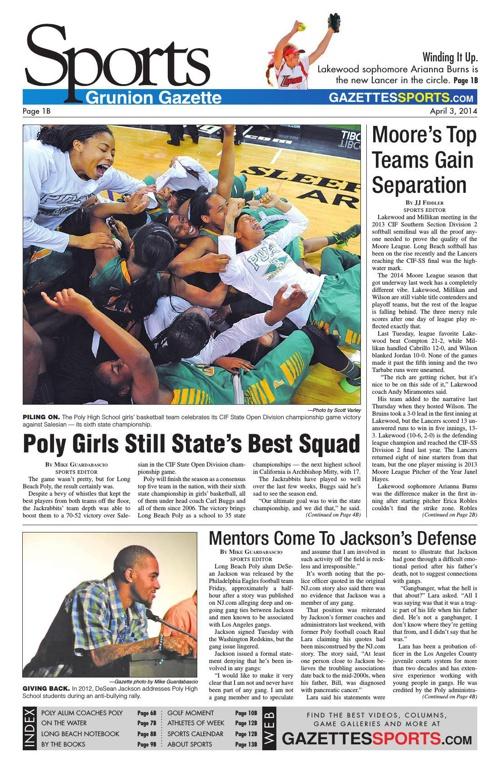 Gazettes Sports 4-3-14