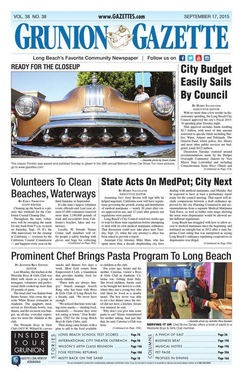 Grunion Gazette | September 17, 2015