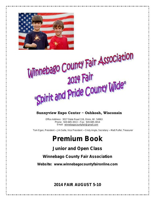 2014 Winnebago County Fair Book