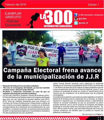 PRIMERA EDICION - LA 300 INFORMATIVO SINALOENSE