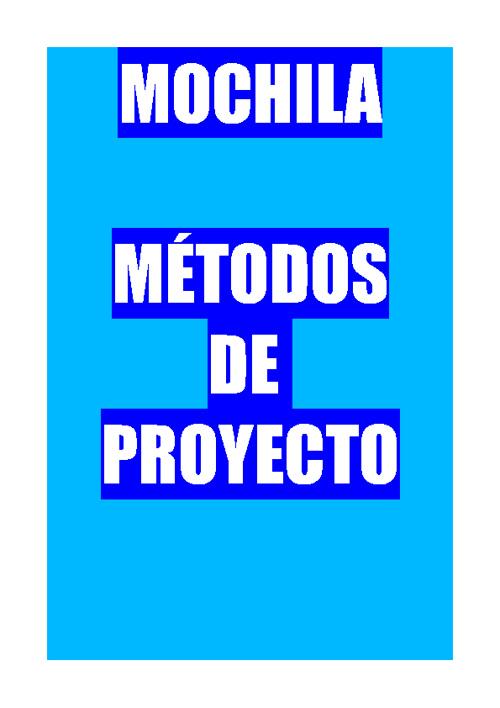 Métodos de Proyecto: Mochila