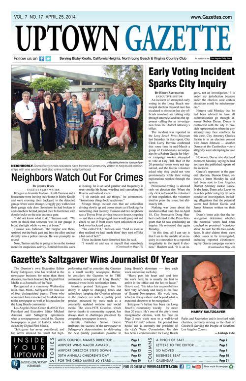 Uptown Gazette     April 28, 2014