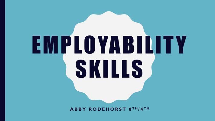 abbys employability skills