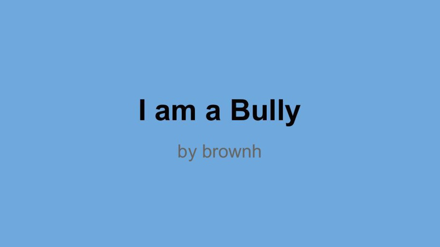 Slideshow for Bullying FlipBook