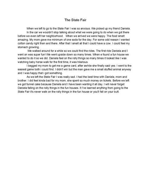 Middle School Diaries: Writing Portfolio