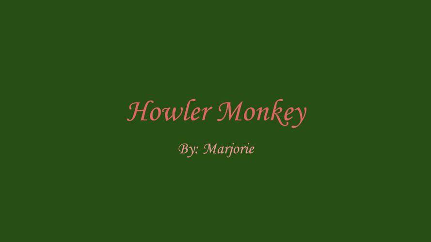 Howler Monkey By Marjorie
